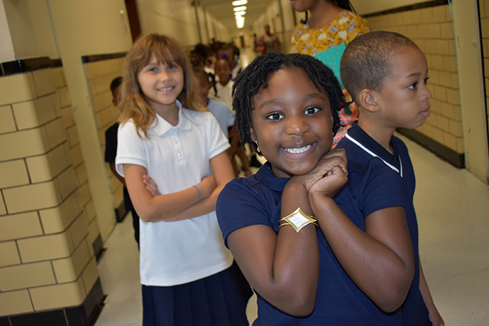 Walnut Hill elementary students